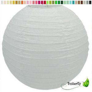 1 Lampion 30cm , Farbauswahl:weiß 029