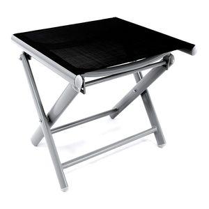 Garten Klapphocker / Fußhocker Aluminium - Textilen Silbergrau/Schwarz