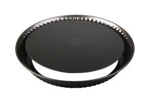 Dr. Oetker Quicheform Ø 28 cm, Tarteform aus Stahl mit Antihaftbeschichtung, runde Backform für Tortenboden, Menge: 1 Stück