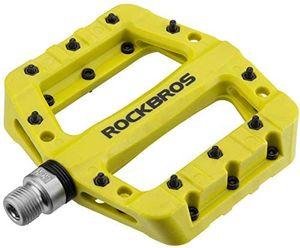 """ROCKBROS Gelbgrün Fahrrad Pedale Nylon Rutschfest 3 Bearing Rennrad 9/16"""" Anti-Staub MTB"""