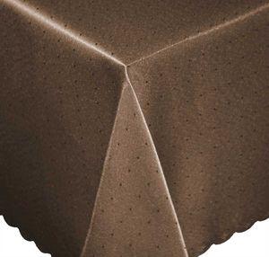 Tischdecke 110x140 cm braun eckig Mitteldecke Punkte bügelfrei fleckenabweisend