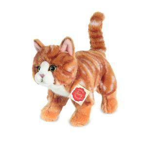 Teddy Hermann 90682 Katze stehend rot getigert ca. 20cm Plüsch