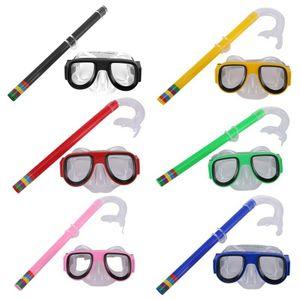 Kinder Schnorchelmaske Taucherbrille Schnorchelset Tauchermaske Schwimmbrillen Grün Tauchersets