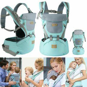 Miixia 9-in1-Ergonomische-Babytrage-Kindertrage-Bauchtrage-Rueckentrage-4-Tragpositionen