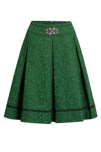 Lieblingsgwand Trachtenrock mini 60 cm grün geblümt Felizitas 011421 Größe: 44