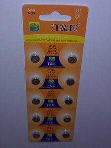 10x AG 3 Uhrenbatterie 392 LR41 736 Knopfzelle SR41 384