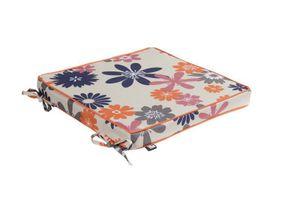 Outdoor SITZKISSEN 40cm x 40cm Capri lila-orange Polster Stuhlauflage