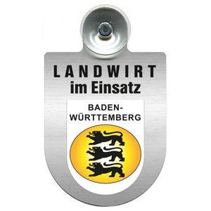 Einsatzschild Windschutzscheibe - Landwirt im Einsatz - incl. Regionen nach Wahl - 309369 - Color - Region Baden-Württemberg