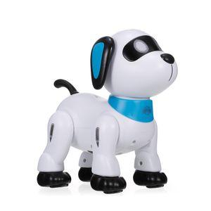 LE NENG K21 Elektronischer Roboter Hund Stunt Hund Fernbedienung Roboter Hundespielzeug Sprachsteuerung Programmierbare Touch-Sense Musik Tanzspielzeug fuer Kinder Geburtstag Weihnachtsgeschenk