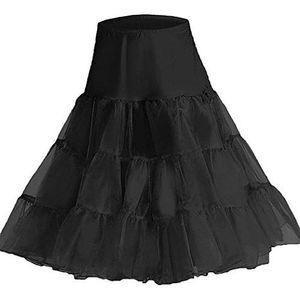 "50er Jahre Vintage Rockabilly Petticoat Rock, 26"" knielang (L/XL Black)"