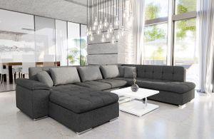 Mirjan24 Ecksofa Niko Bis, Bettkasten und Schlaffunktion, Sofa vom Hersteller, Wohnlandschaft, Polstergarnitur (Lux 06 + Lux 06 + Lux 05, Seite: Links)