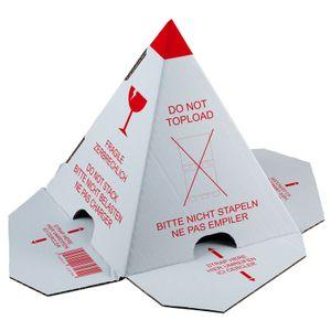 """100 x Palettenhütchen """"Nicht stapeln"""" Stapelschutzpyramide zur Palettensicherung selbstklebend"""