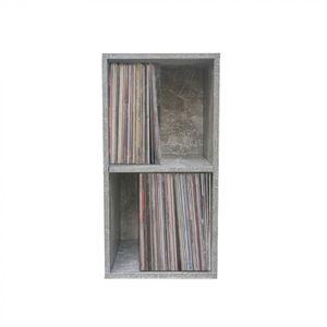 LP Vinyl-Würfelplattenschrank Stapelbares Multifunktions-Aufbewahrungssystem schwarz