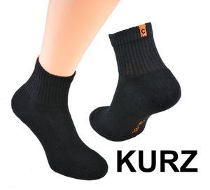 Socken mit Frotteesohle, , Farbe:Kurzsocken schwarz, Gr. :39/42, Menge:12 Paar