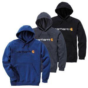 Carhartt Kapuzenshirt mit Logo, Farbe:schwarz, Größe:L