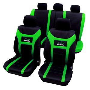 WOLTU AS7259gn Universal Schonbezüge für Auto Sitzbezug Sitzschoner Autositzbezug, Super Speed, Schwarz-Grün