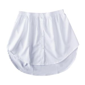 1 Stück Shirt Fake Hem L. Weiß Solide