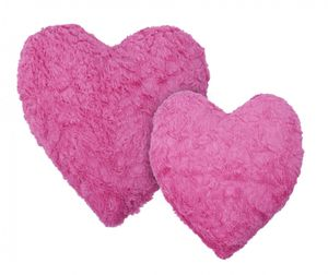 Kissen Kuschelkissen Dekokissen Herzkissen Fluffy pink 30x25cm