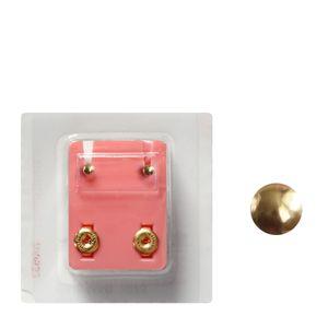 1 Paar Erstohrstecker 316L Chirurgenstahl vergoldet Sterile Ohrstecker Knopfform 3mm rund Ohrringe Ohrhänger Ohrschmuck