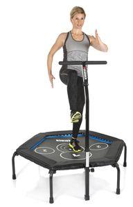 HAMMER Fitness-Trampolin Cross Jump incl. Online-Trainingsvideos, mit einklappbaren Füßen, Jumping Points (patentiert) für maximale Trainingseffizienz