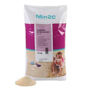 A&G-heute Min2C 25kg Spielsand Quarzsand für Kinder Sandkasten Dekosand  gesiebt (0,60 € / kg)