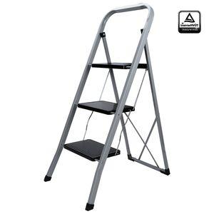 EINFEBEN Stehleiter Klappleiter Trittleiter Keller Mit Haken Ladder stabil 3 Stufen
