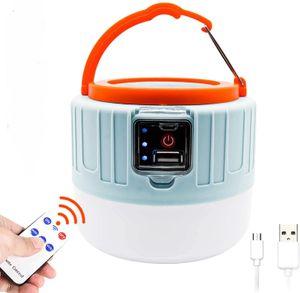 Solar LED Campinglampe USB Camping Laterne Powerbank mit Fernbedienung Solarleuchte Garten Außenbeleuchtung