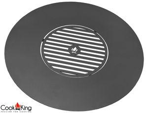 CookKing 222305 Grillplatte für Feuerschale Feuerstelle Terrassenschale 82cm mit Grillrost 40cm