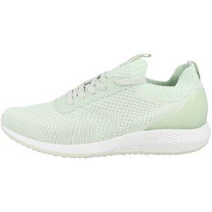 Tamaris Damen Low Sneaker Tavia Fashletics Lace UP 1-23714-26 Grün 762 Fresh Mint Textil/Synthetik mit Removable Sock, Groesse:39 EU