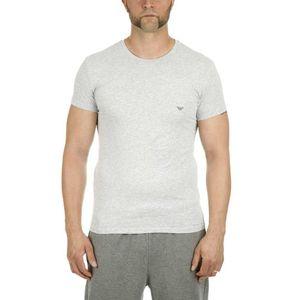 Emporio Armani Herren Slim Fit steinig Logo T-Shirt, Grau Large