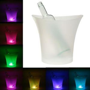 5L LED Eiswürfel Eiskübel Eiskühler Eiswürfelbehälter Wein Bier Eisbox Bar Party