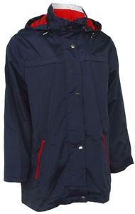 Damen Übergangsjacke Outdoorjacke Kapuze Sommer Frühling Jacke leicht blau , Größe:XXL