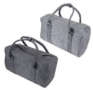 Filz Reisetasche Weekender 50x30x23cm Shopper Tasche Sporttasche Filztasche, Farbe:anthrazit