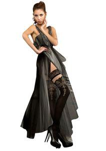 halterlose struempfe Ballerina  220 Schwarz Stockings Damenstruempfe , Größe:S/M - (36/38)