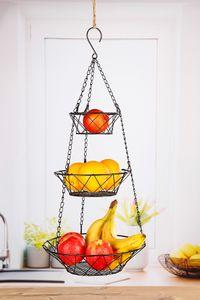 Etagere Obstkorb hängend Hängekorb Küchenampel 3 Körbe Ampel Obst