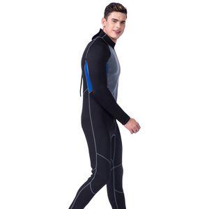 Herren 3mm neoprenanzug ganzkörper super stretch tauchanzug surfen skins xl Schwarzgrau