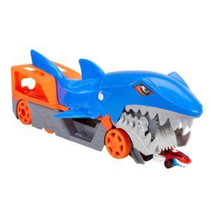 Hot Wheels Hungriger Hai-Transporter für bis zu 5 Spielzeugautos