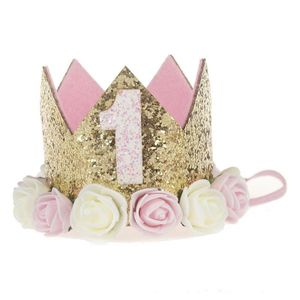 Baby M?dchen Ersten Geburtstag Party Hut Blume Prinzessin Crown Decor Haar Zubeh?r -