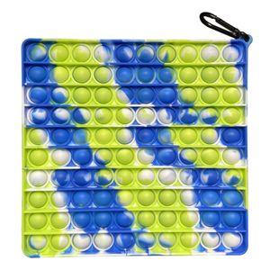 Groß Push Pop It Pop Bubble Spielzeug,Verwendet für Autismus, Stress Abzubauen Braucht zappeln Spielzeug(Quadrat A)
