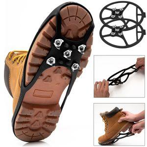 Spikes Schuhe Eiskrallen Schuhspikes Schuhkrallen Krallen Eis Schuhketten 34-44, Größe:40-44