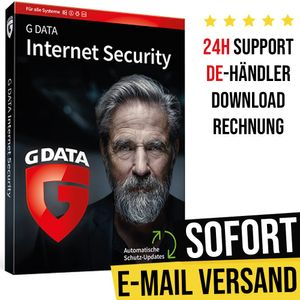 GData Internet Security 2021 | 3 Geräte | 1 Jahr | Vollversion | Versand per E-Mail