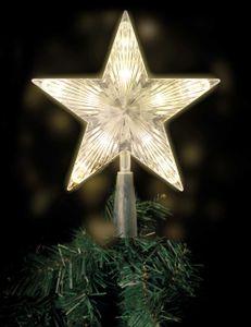 Lex Light Weihnachtsbaumspitze Baumspitze für Christbaum 10 LEDs warmweiß 18x18cm