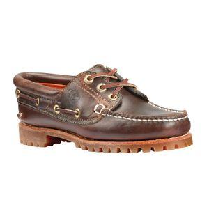TIMBERLAND Echtleder Bootsschuhe 3 Eye Classic Lug Damen Braun Schuhe, Größe:38