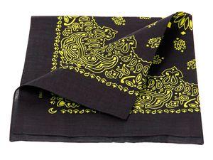 Bandana Biker Tuch 54 x 54 cm verschiedene Farben, wählen:schwarz gelb paisley 210