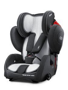 Recaro Air Mesh Cover, Baby car seat cover, Young Sport Hero, Schwarz, Rot, Silber, Baumwolle, Netz, Junge/Mädchen, 30 °C