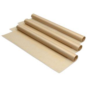 Navaris Backpapier 3x Backmatte wiederverwendbar - 33x40cm Backfolie für Backblech Backofen - Dauerbackfolie Matte antihaft Folie - 3er Set