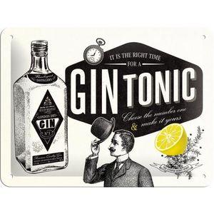 Nostalgic-Art - Blechschild Metallschild 15x20 cm - Gin Tonic