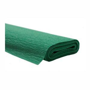 Creleo - Krepppapier dunkelgrün 50x250 cm Rolle färbt nicht ab bei kontakt mit Wasser