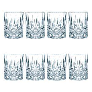 Nachtmann Noblesse Whiskybecher Set, 8er Set, Whiskyglas, Tumbler, Kristallglas, H 9.8 cm