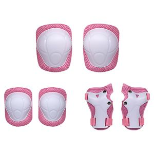 Lixada Kids Knieschützer Set 6 in 1 Protective Gear Kit Knie-Ellbogenschützer mit Handgelenkschutz Kindersicherheits-Schutzpolster für Rollerblading Radfahren Skaten(Pink)